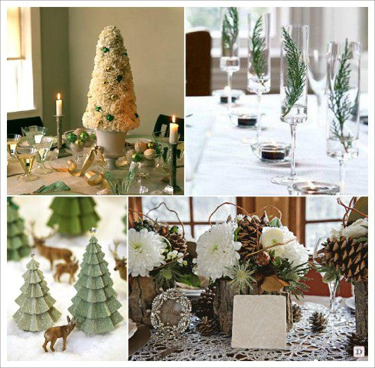 mariage hiver decoration table centre de table sapin cone pomme de pin no l d corations. Black Bedroom Furniture Sets. Home Design Ideas