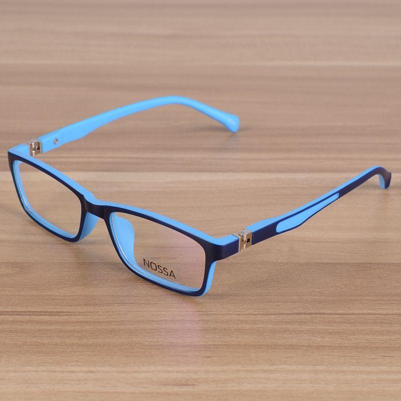 573dc4ee23d Kids Eyeglasses Children Unbreakable TR90 Glasses Frame Optical  Prescription Eyewear Frames Girls Boys Blue Patchwork Glasses