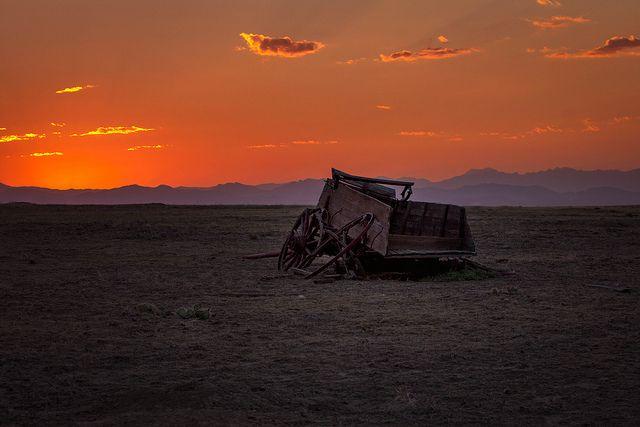 Sunset on the plains.