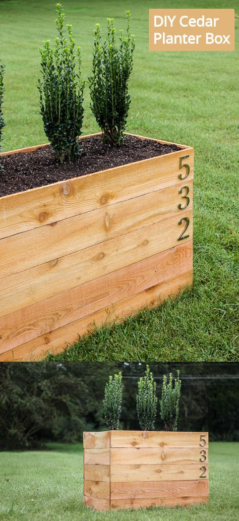 Build this DIY Cedar Planter Box Using a Snap Together Frame is part of Diy cedar planter box, Diy planters, Planter box plans, Cedar planter box, Cedar planters, Diy planter box - These cedar planter box DIY plans use a simple snap together frame  It's also a great way to boost your curb appeal in just a day!