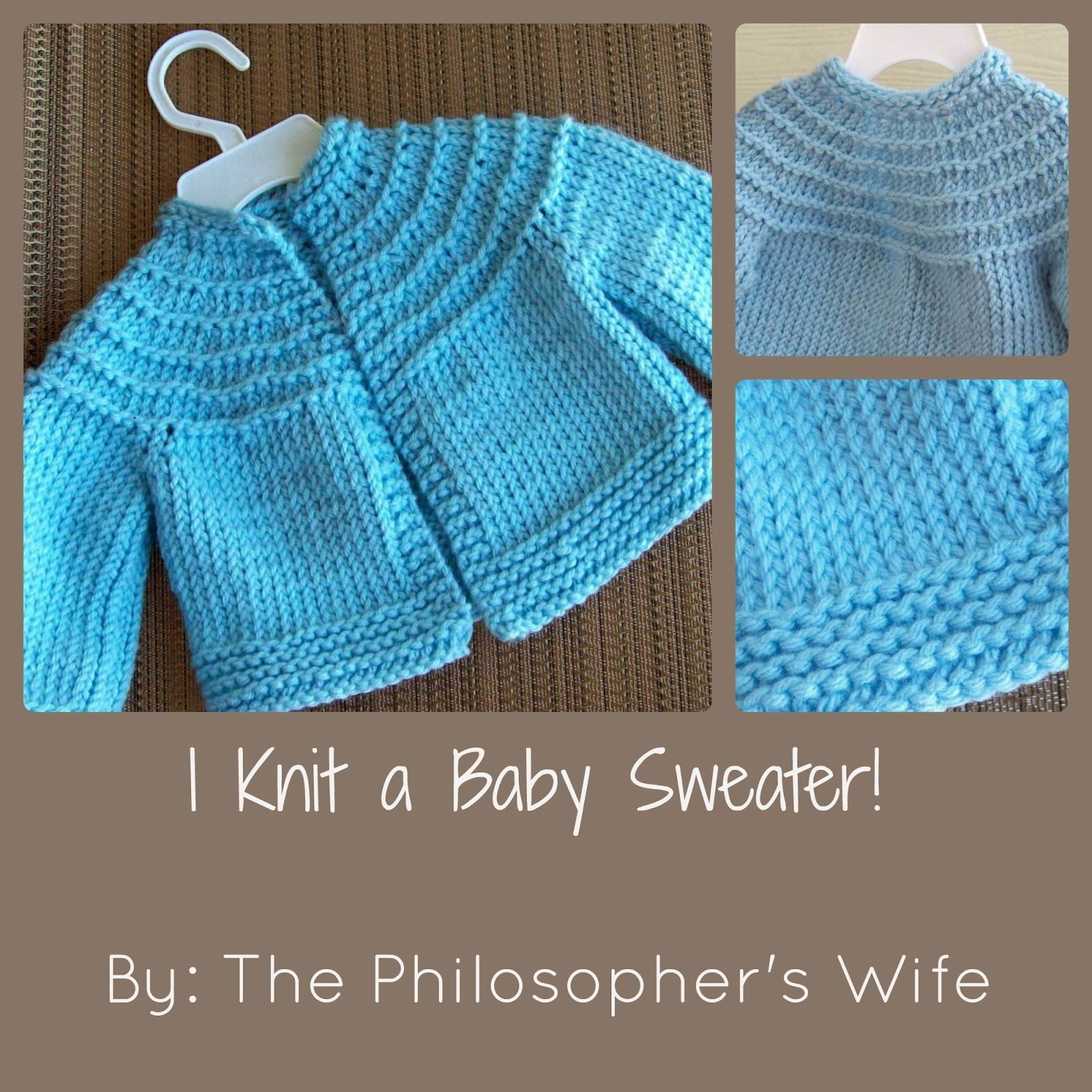 The philosophers wife i knit a baby sweater including a link the philosophers wife i knit a baby sweater including a link to the free pattern bankloansurffo Gallery