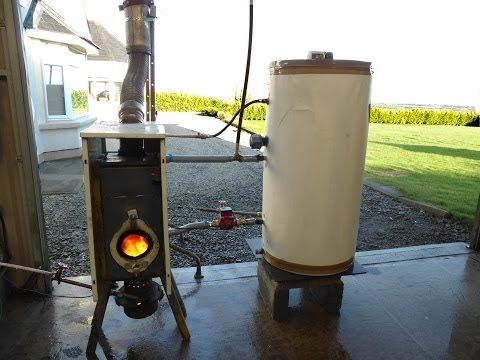 Free Hot Water And Heating From Waste Oil Easy Build Waste Oil Burner Diy Heater Wood Stove Water Heater
