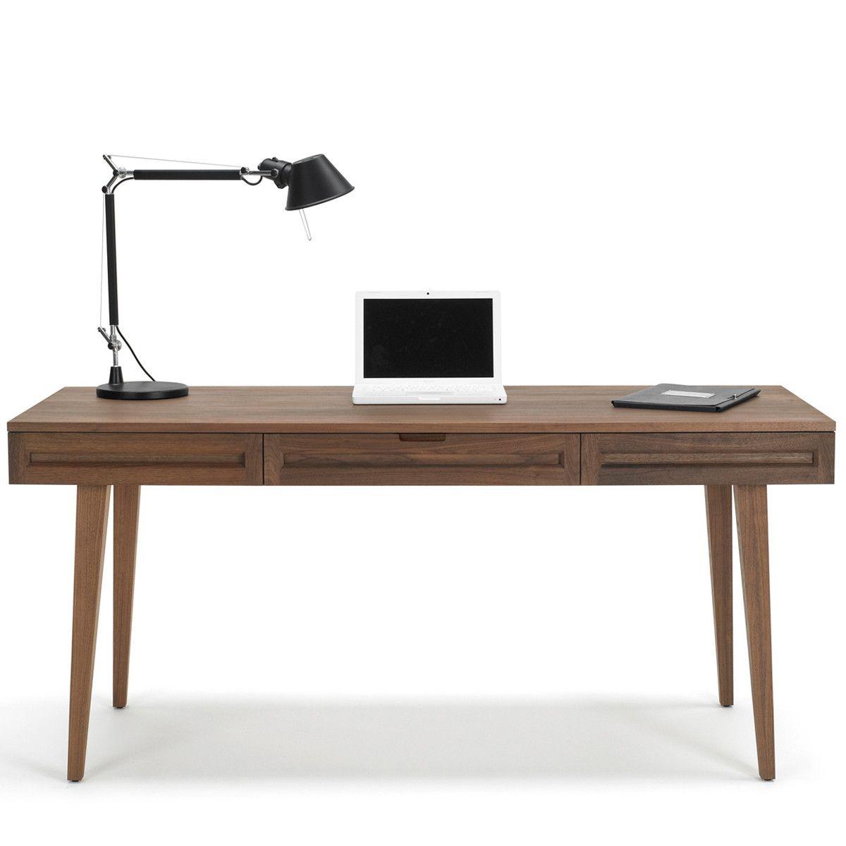 Highland Work Desk 64 Walnut By Theergooffice Solid Wood Desk Wood Desk Desk Furniture