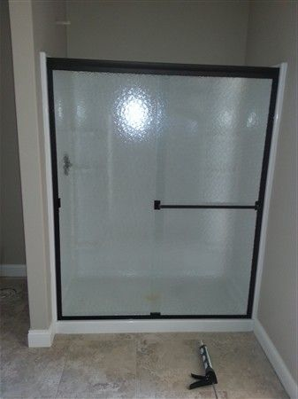 Sliding Walk In Shower Door With Obscure Glass Oil Rubbed