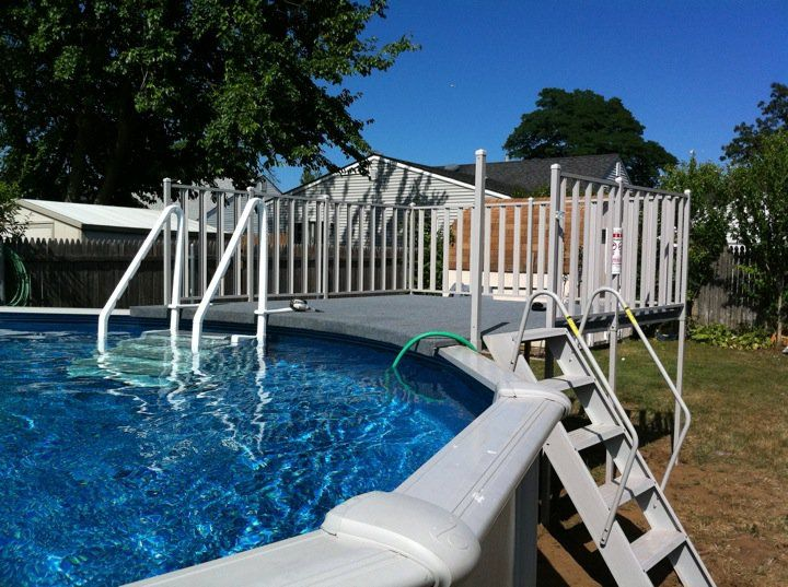 2 Section Extruded Aluminum Deck Above Ground Pool In