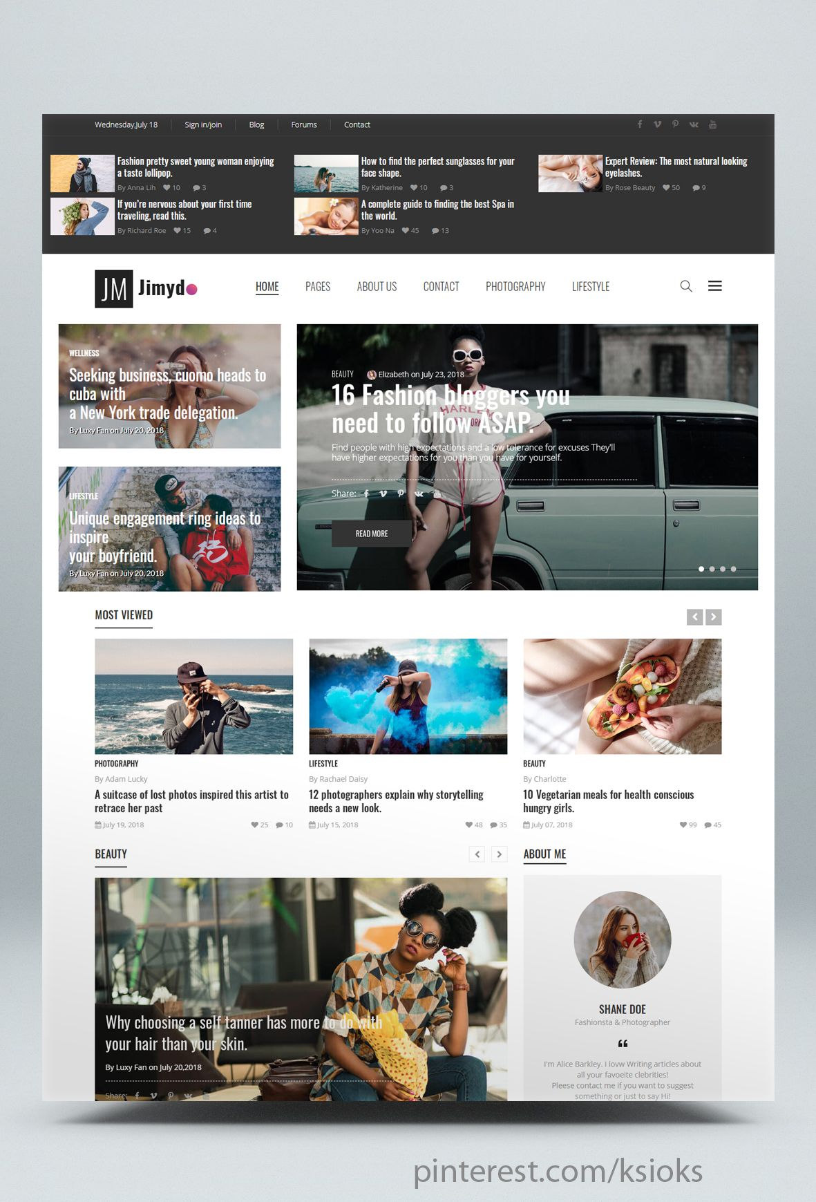 News Magazine Html Website Template With A Specific Beautiful Design Style It Is Very Suitable For Website Template Html Website Templates Blog Websites