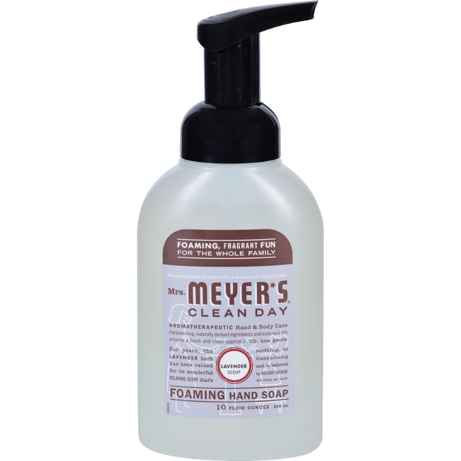 Mrs Meyer S Foaming Hand Soap Lavender Case Of 6 10 Fl Oz Foaming Hand Soap Skin Cream Recipes Soap