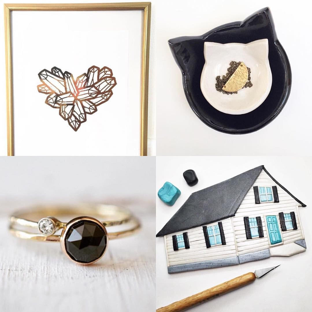 """Etsy Shop: Sewn By The Beach on Instagram: """"Happy #followfriday! I've rounded up four new artists and makers that I love. Please go give them a like and a follow!"""""""