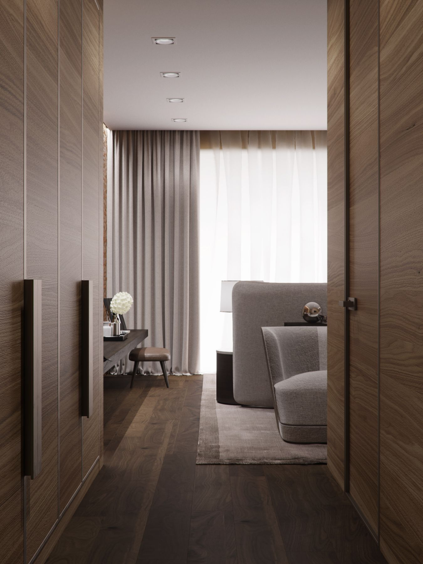 Hotel Bedroom: 3D Rendering Of Hotel Rooms