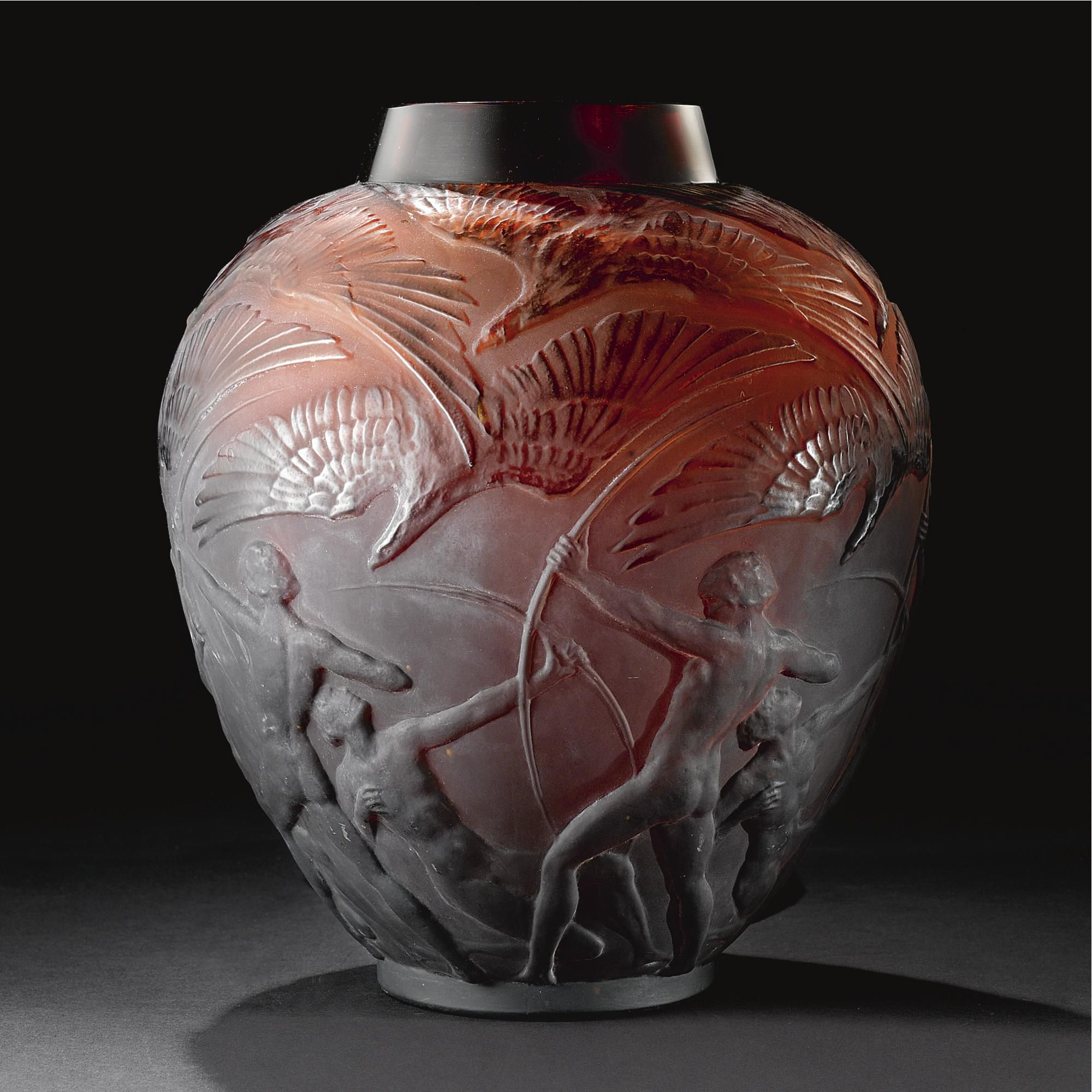Ren lalique archers vase circa 1921 crystal art pinterest ren lalique archers vase reviewsmspy