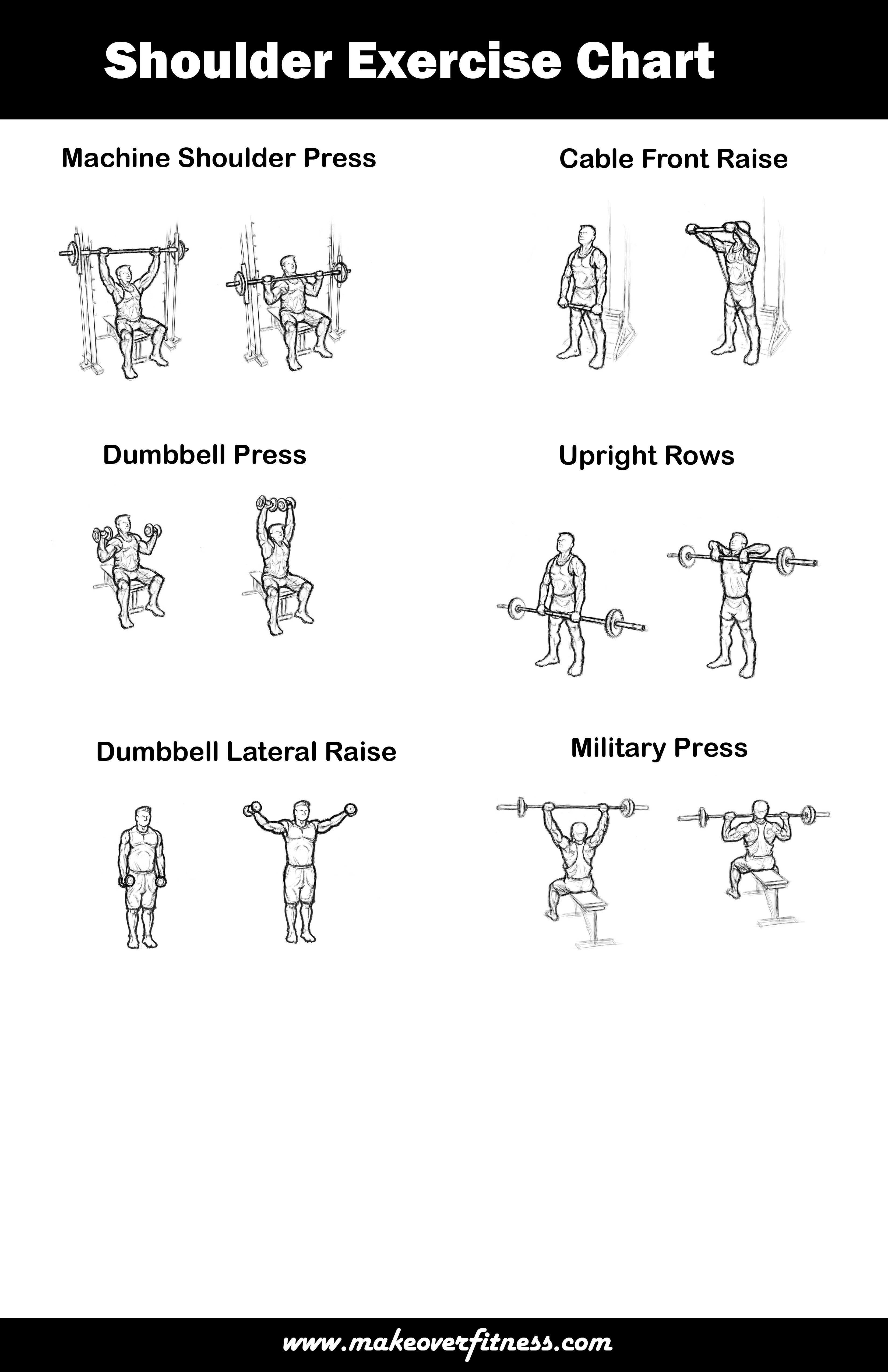 Printable Sample Shoulder Workouts Form  Workout Sheet
