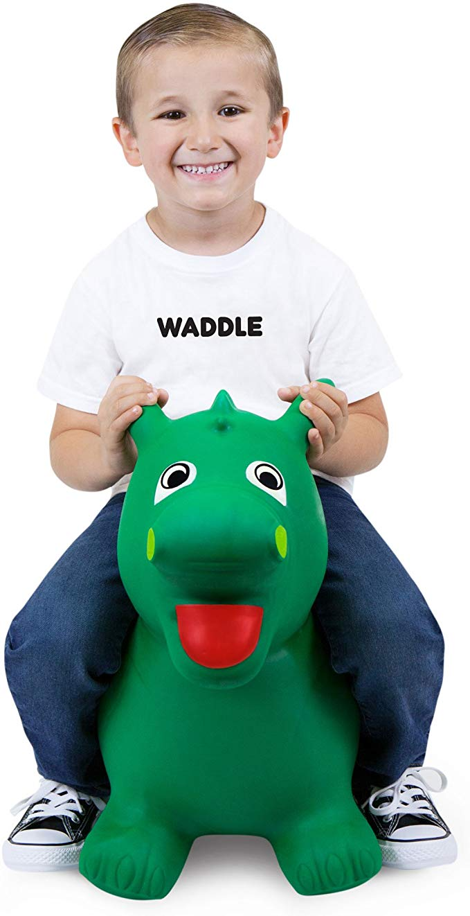 Amazon Com Waddle Bouncy Animals For Toddlers Ride On Dinosaur Dragon Kids Hopper Pet Toys Kids Jumpy Ball Animal Toddler Toys Popular Kids Toys New Kids Toys