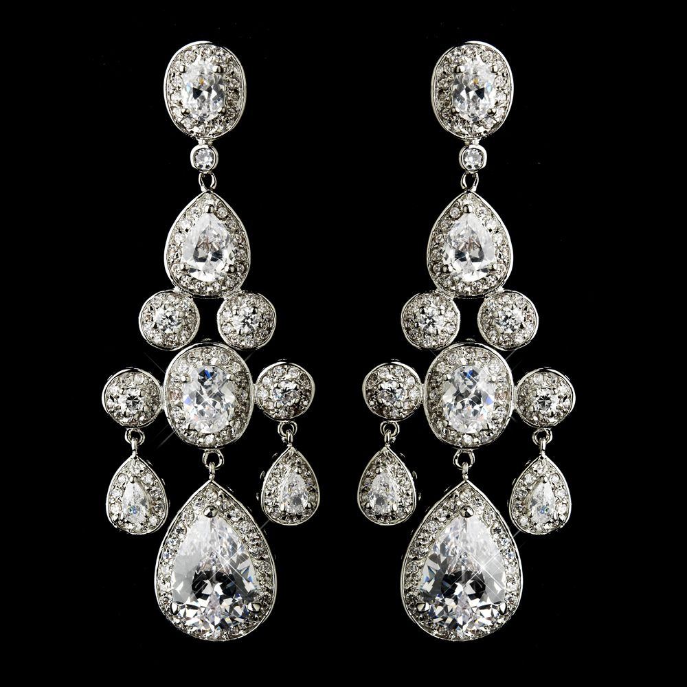 Miss universe silver plated cz chandelier earrings chandelier miss universe silver plated cz chandelier earrings mozeypictures Image collections