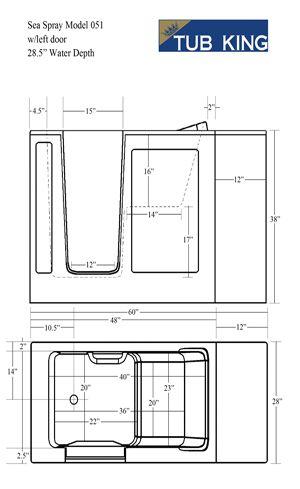 Seaspray 201 Diagram Walk In Bathtubs Walkin Tubs Safety