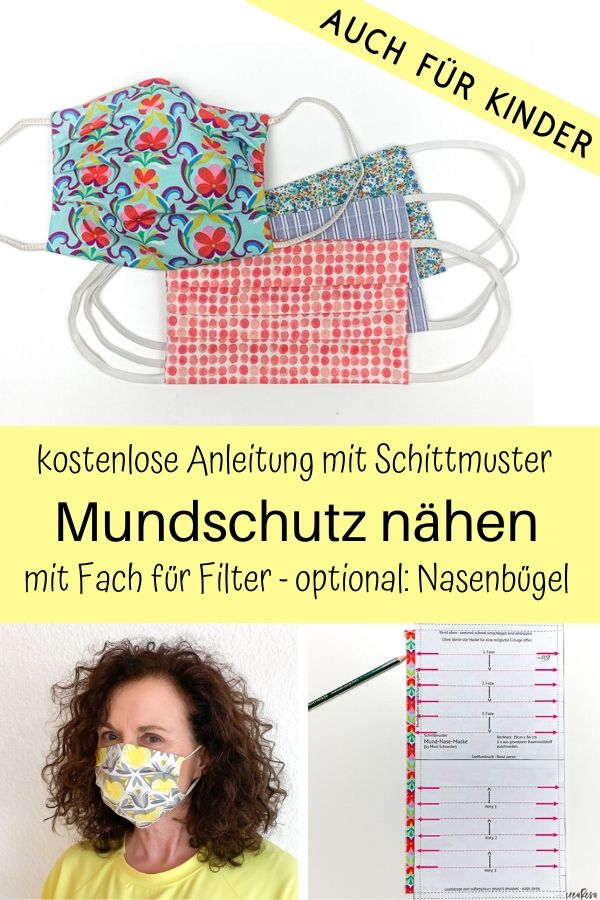 Photo of Mundschutz nähen Anleitung und Schnittmuster auch für Kinder