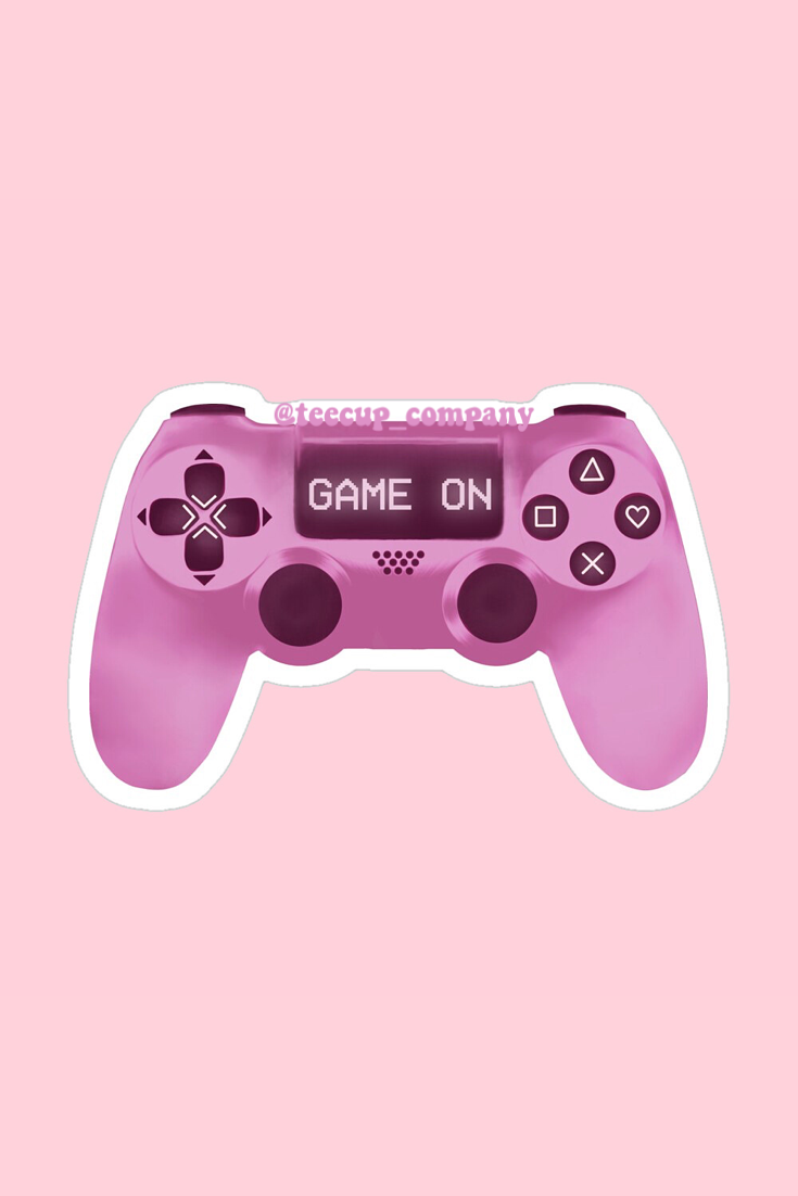 Pink Controller Game On Sticker By Teecupcompany In 2021 Game Wallpaper Iphone Pink Games Iphone Wallpaper Tumblr Aesthetic