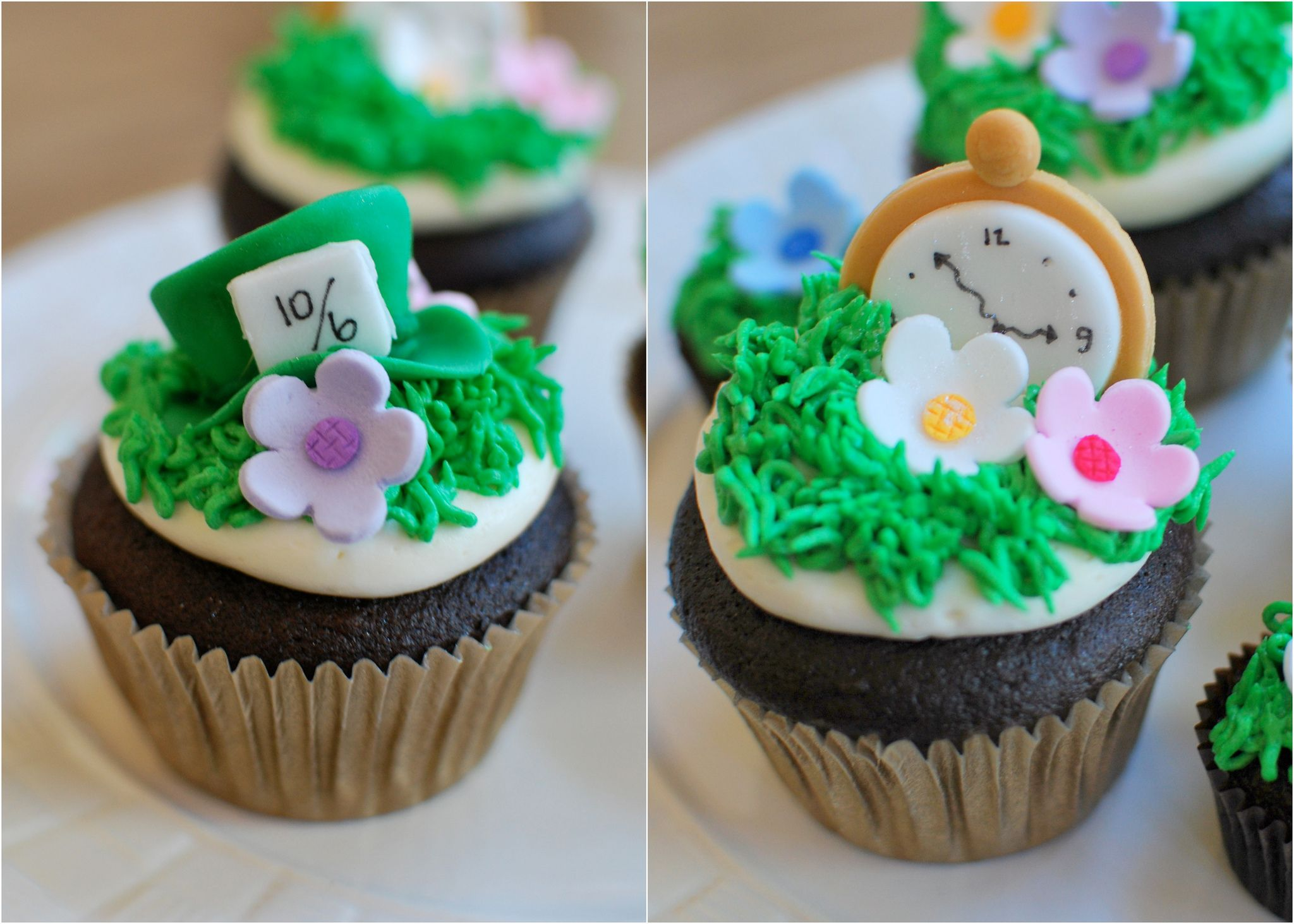 Alice in Wonderland Chocolate Cupcakes (With images ...