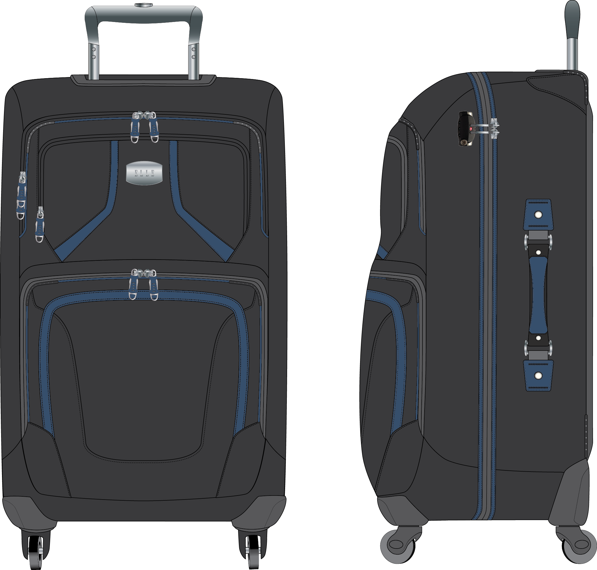 339fdb5b742a ELLE Branded Wheeled Luggage - Designed for the Hong Kong Licensee for ELLE  bags in China.