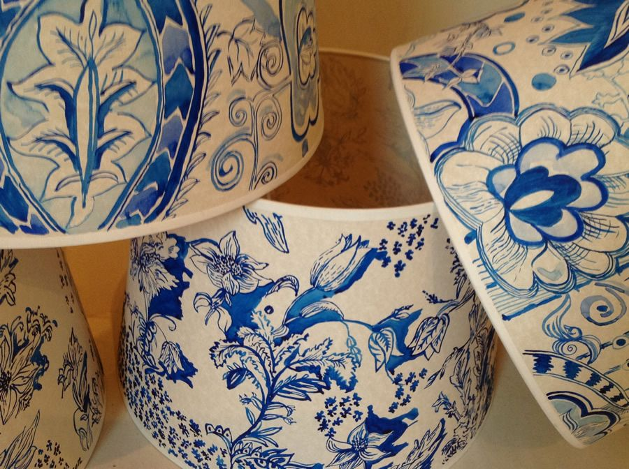 Lovely Handpainted Lampshades. Decorating LampshadesPainting ...