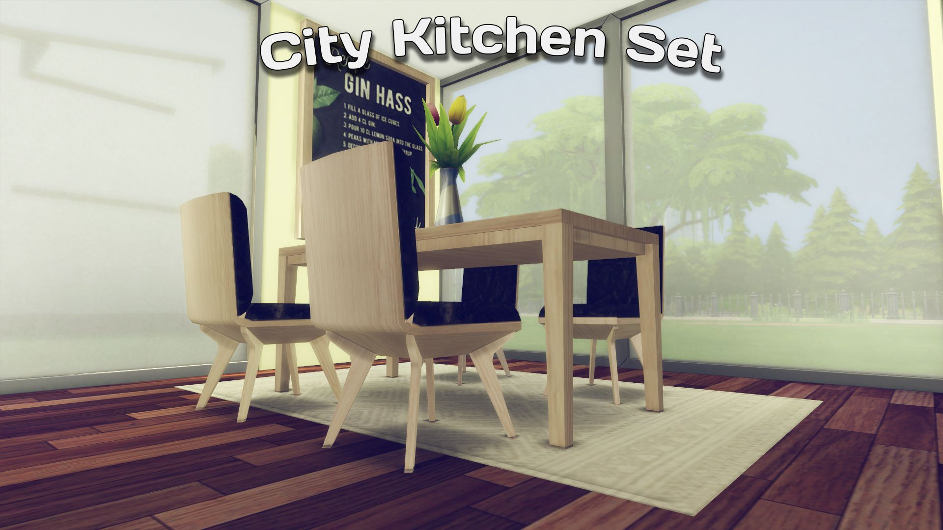 City Kitchen Set for Sims 4   Kitchen sets, Outdoor ...