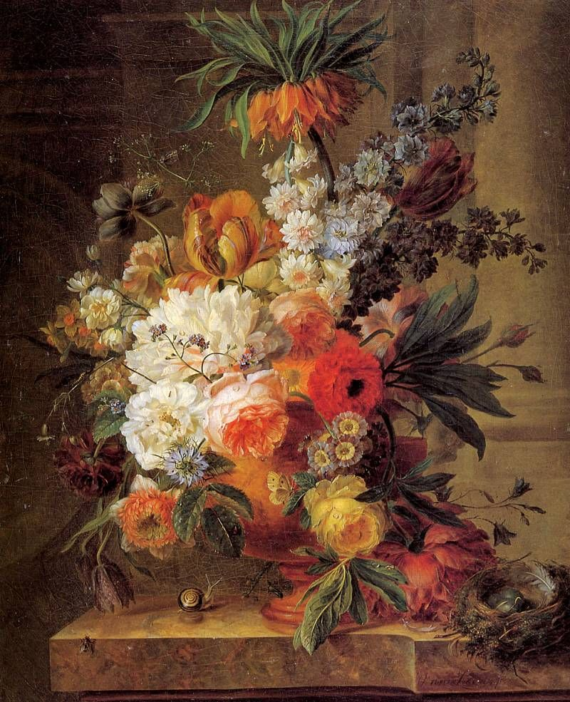 Willem van Leen - Flower still life Sun