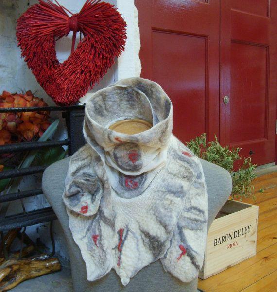 Nuno felted scarf / wool felted scarf / handmade by Beautifulfelts