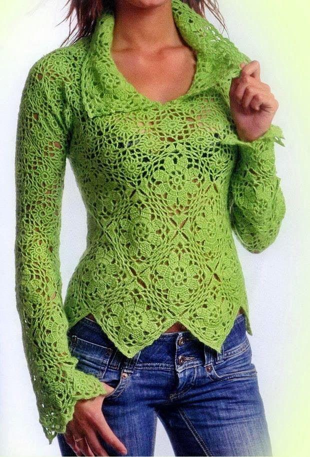 Collared Crochet Sweater Pattern ⋆ Crochet Kingdom