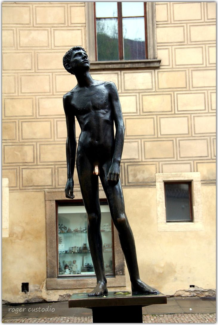 Prague, A Sculpture Is Youth Editorial Stock Image - Image