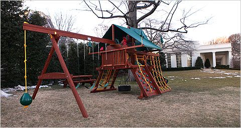 A Rainbow Castle Swing Set Installed At The White House The New