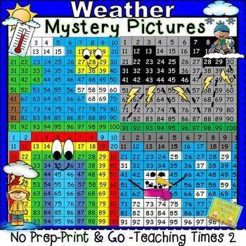 Hundreds Chart Mystery Picture 41: Weather Hundreds Chart Hidden Picture | Hidden pictures Weather ,Chart