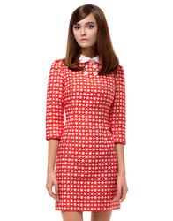 1c891eee4be MARMALADE 60s Mod Geometric Flower Fitted Dress  http   www.atomretro.
