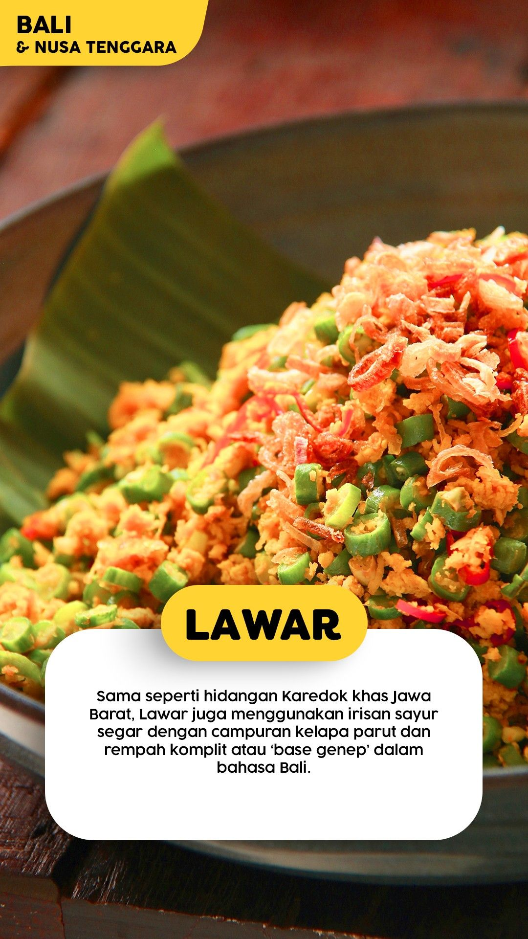 Resep Lawar Bali Resep Masakan Makanan Resep Ayam