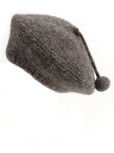 TOFT felt beret knitting pattern: aran British alpaca wool yarn knitting kit beret, UK  £5