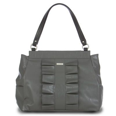 """""""Donna"""" Miche's beautiful Grey  Prima with adorable ruffle!  take your Donna anywhere and....also part of the anniversary Bundle, See the Anniversary sale at:  WWW.jackisbagboutique.miche.com"""