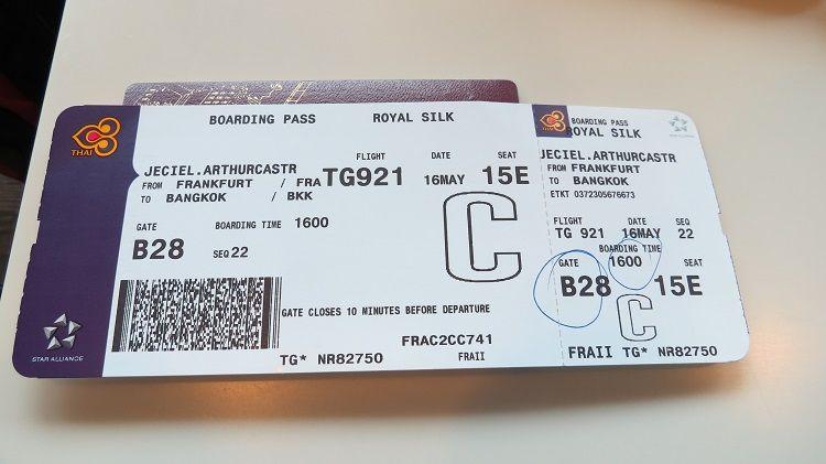 Thai airways boarding pass | Thai Airways | Pinterest