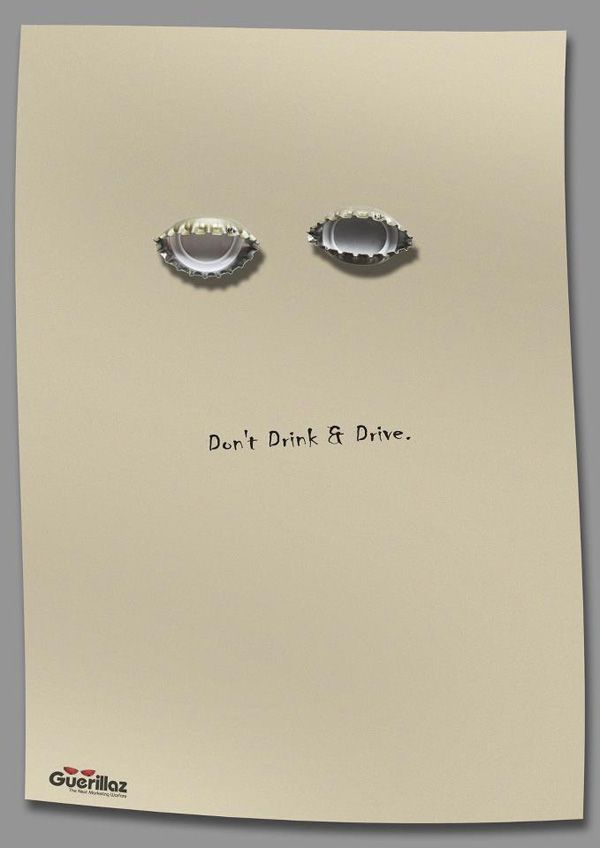 Don't drink & drive ad  #ad #marketing #creative #poster #advertising #campaign #commercial #clever #communion #brand #branding #design2pro