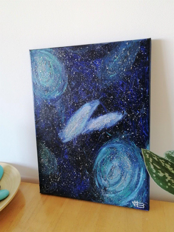 Tableau galaxies et étoiles : tableau contemporain