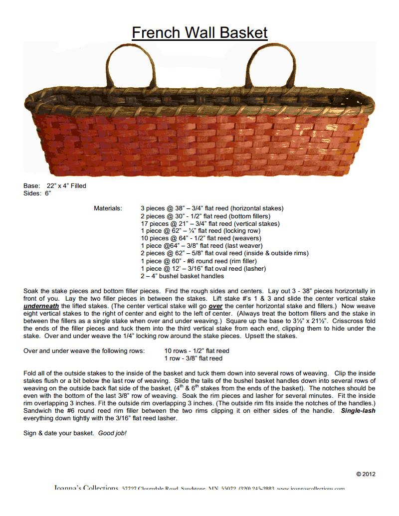 French_Wall_Basket.pdf | Basket Weaving Techniques | Pinterest | Pdf ...