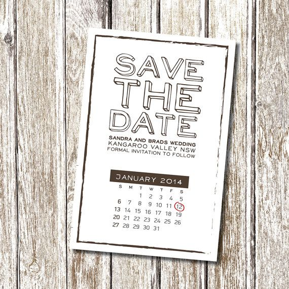 Calendar Chic Save The Date Printable And By Deedubdesigns