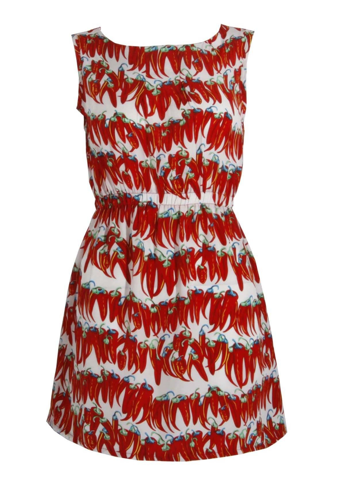 Chilli Dress by Yumi - a brilliant print that is inspired by the huge S/S 2012 trend for fruit, vegetables and the 1950s Riviera, looking to brands such as Dolce & Gabbana.