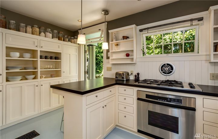 Cabinets Color Floor Fan Transom Window 1519 38th Ave Madrona 1923 Custom Kitchen Kitchen Kitchen Cabinets