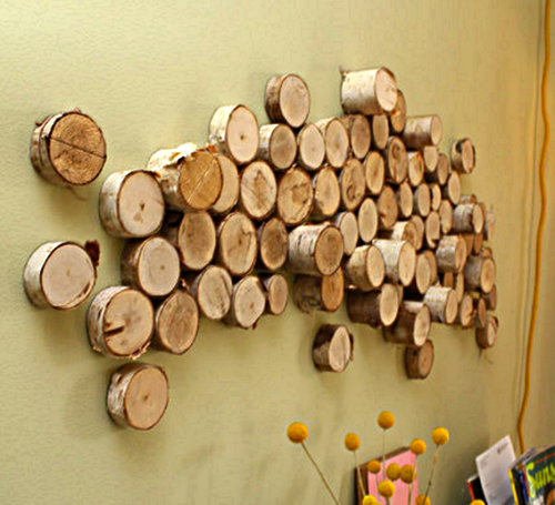 DIY Wall Art and Deco | Log wall, Diy wall art and Diy wall