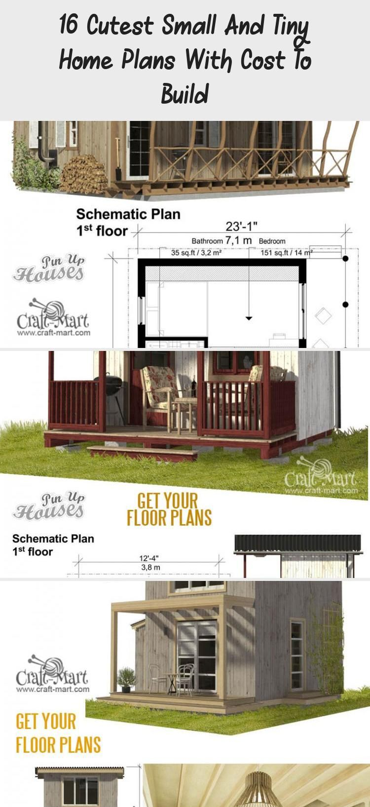 16 Cutest Small And Tiny Home Plans With Cost To Build Tiny House Plans House Plans Tiny House Australia
