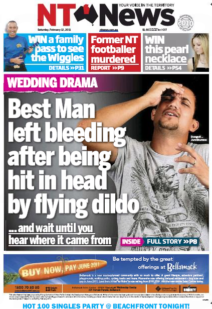 Best Man Left Bleeding After Being Hit In Head By Flying The Stump