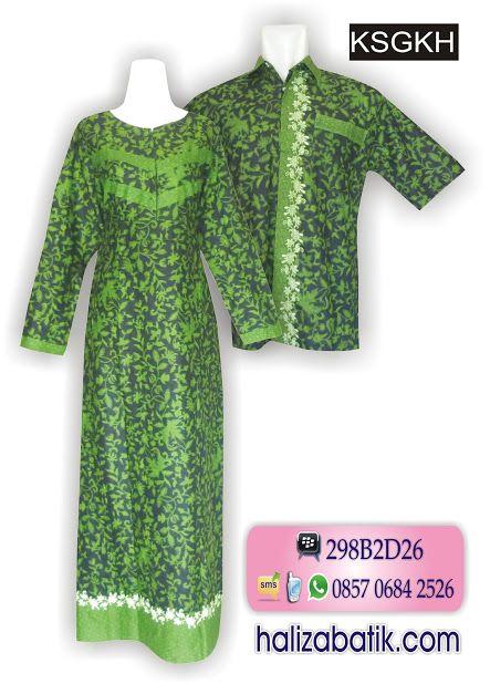 Batik sarimbit modern bahan katun Warna dasar hijau Motif batik