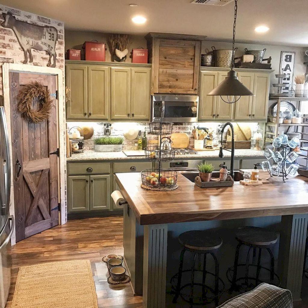 34 great farmhouse kitchen decor ideas rustic kitchen decor home decor kitchen farmhouse on kitchen decor themes rustic id=84291
