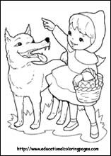 Little Red Riding Hood Coloring Pages Free For Kids Red Riding