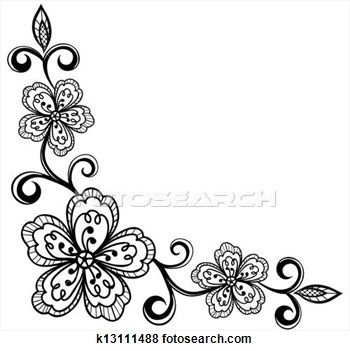 Flowers Illustrations And Clipart 266 513 Flowers Royalty Free Illustrations Drawings And Graphics Available To Sear Lace Flowers Flowers Lotus Flower Tattoo