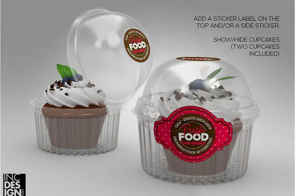 Download Dome Lid Cupcake Container Mockup Cupcake Container Candy Packaging Container