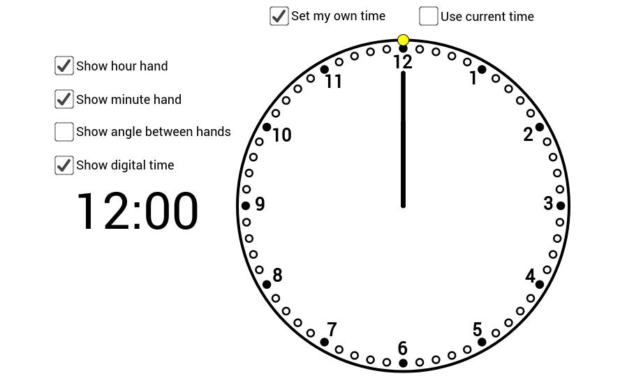 Clock For Dr Olsen Find Angle Between The Hands Clock Olsen Current Time